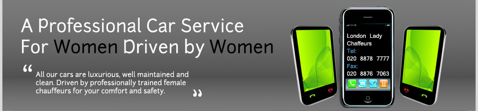 3 mobile phones with the message car service for women