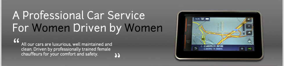 female chauffeur, women driven chauffeur service